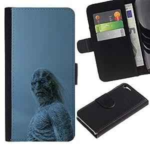NEECELL GIFT forCITY // Billetera de cuero Caso Cubierta de protección Carcasa / Leather Wallet Case for Apple Iphone 5 / 5S // Blanca Walker