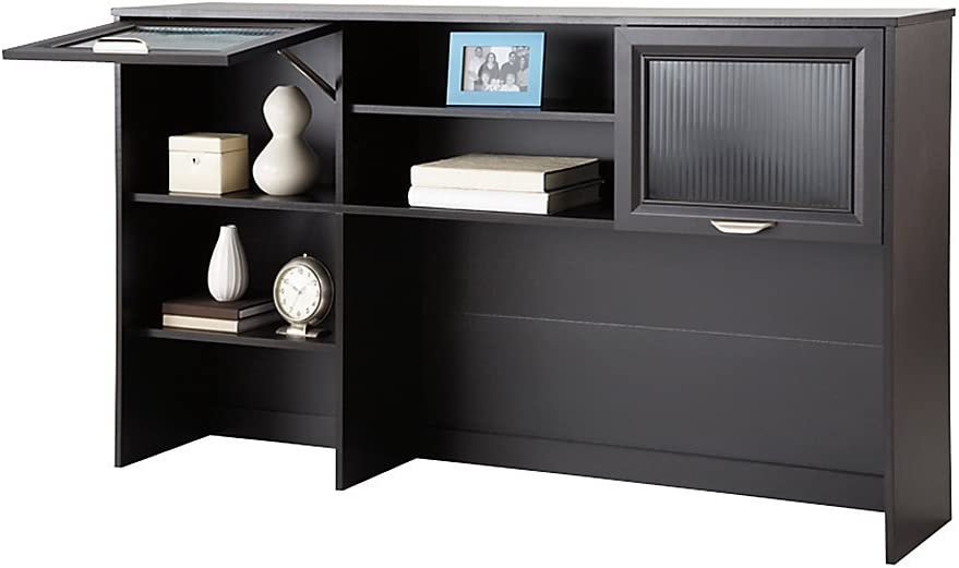 Realspace Magellan Collection Hutch, 33 5 8 H x 58 1 8 W x 11 5 8 D, Espresso