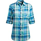 Product review for Dickies Women's Plus Size Quarter Sleeve Roll-up Plaid Shirt