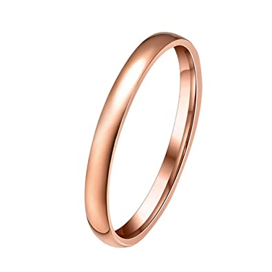 PAURO Womens Copper Jewellery Tri-Color Stackable Ring Set Gold, Rose Gold and White Gold Plated