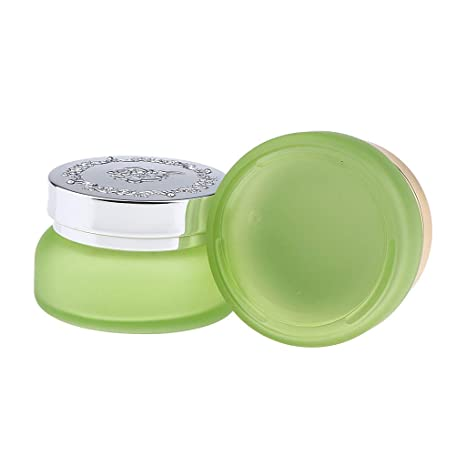 Homyl 2 Pedazos Botella de Vidrio Recipientes Cosméticos Tarros de Maquillaje Envase de Crema Facial/