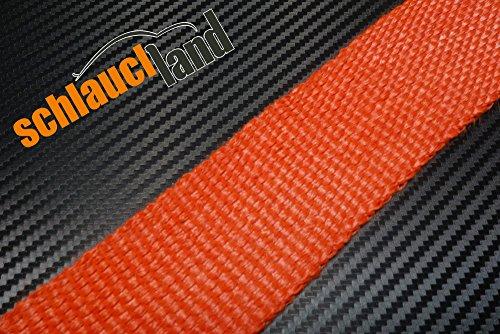 5m Hitzeschutzband ROT 50mm SCHLAUCHLAND*** Auspuffband Thermoband Krümmerband Heat Wrap Basaltfaser Isolierband