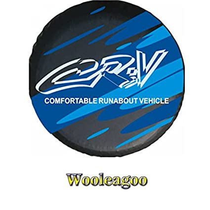 Wooleagoo Blue Rear Spare Tire Cover For H onda C RV C R-V Heavy Duty PVC Wheel Tire (15')
