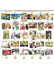 Uping Cadre Photo Mural en Bois, Cadre Photo Pêle-mêle, Décoration Maison et Idée Cadeau