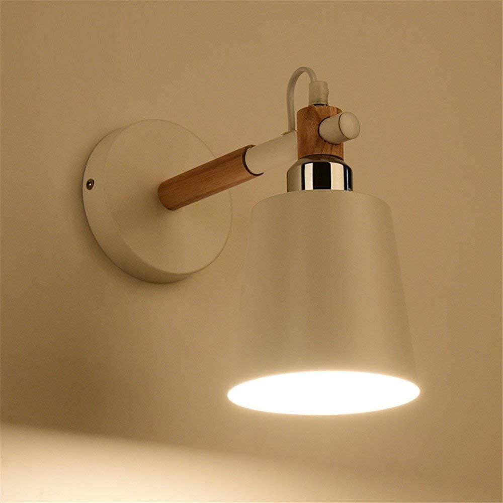 G Wandbeleuchtung Nordic Holzbearbeitung Lampen Einfache moderne Kreative Schlafzimmer im japanischen Stil Nachttischlampe Balkon Gang Massivholz Wandleuchte, F