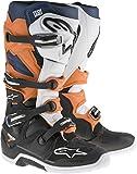 Alpinestars Men's Tech 7 Enduro Boots (Black/Orange/Blue/White, Size 13)