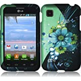 Pleasing Flower Design Hard Case Cover Premium Protector for LG Optimus Dynamic II LG39C L39C (by Net 10 / Tracfone... by LG