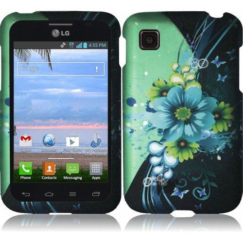 LG Optimus Dynamic II LG39C L39C Case - (TechAccess) Adorable Flower Hard Cover Protector for LG Optimus Dynamic II LG39C L39C - with Gift Box By Tech Accessories (Lg Optimus Dynamic Phone Cover compare prices)