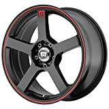 "Motegi Racing MR116 Matte Black Finish Wheel with Red Accents (16x7""/5x100mm)"