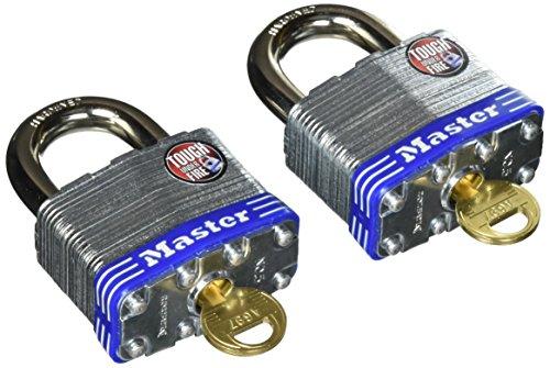Master Lock Padlock, Laminated Steel Lock, 2 in. Wide,  5T