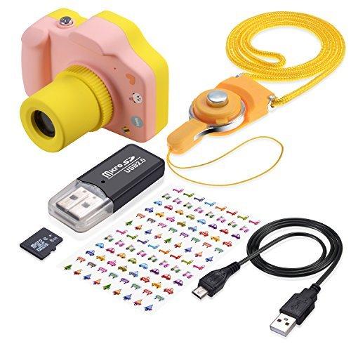 TURN RAISE Mini Cámara Digital Foto y Video con Tarjeta de Memoria 8GB Pantalla DE 1.5 Pulgadas Niña Infantil Rosa