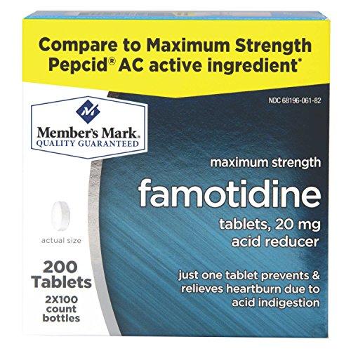 Members Mark Famotidine Compare Strength