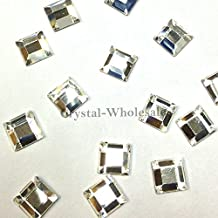 CRYSTAL (001) clear Swarovski 2400 Square - 4mm Flatbacks No Hotfix Rhinestones 24 pcs *FREE Shipping from Mychobos (Crystal-Wholesale)* by Crystal-Wholesale