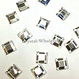 CRYSTAL (001) clear Swarovski 2400 Square - 6mm Flatbacks No Hotfix Rhinestones 18 pcs from Mychobos (Crystal-Wholesale)