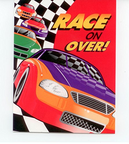 Racing Theme Party Invitations - Race On Over -