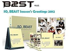 B2ST BEAST KPOP SEASON\'S GREETING KIT CALENDAR+DIARY+POSTCARDS+NOTEBOOK+STICKER