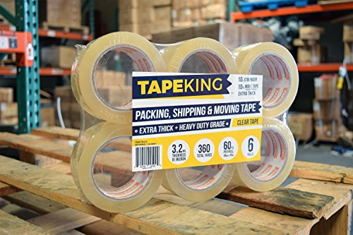 Tape King Clear Packing Tape Super Thick - 60 Yards Per Roll (Case of 36 Rolls) - Strong 3.2mil, Heavy Duty Adhesive Commercial Depot Tape for Moving, Sealing, Packaging Shipping, Office & Storage by Tape King (Image #3)
