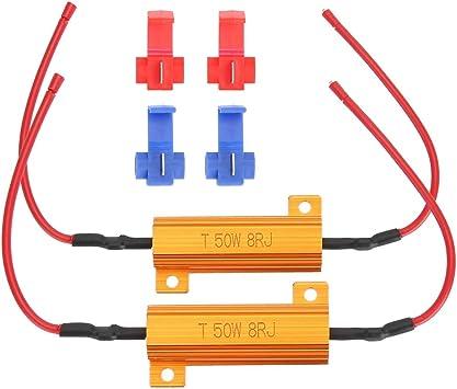 2 piezas Decodificador de resistencia de carga de 50 vatios y 8 ohmios