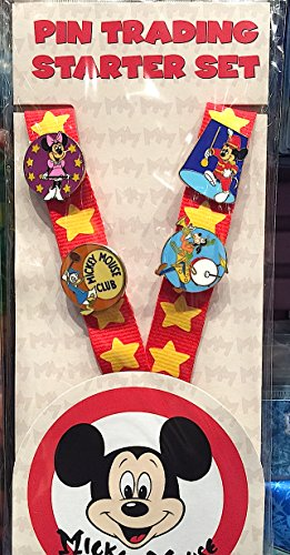 Disney Parks Mickey Mouse Club Pin Trading Starter Set NEW
