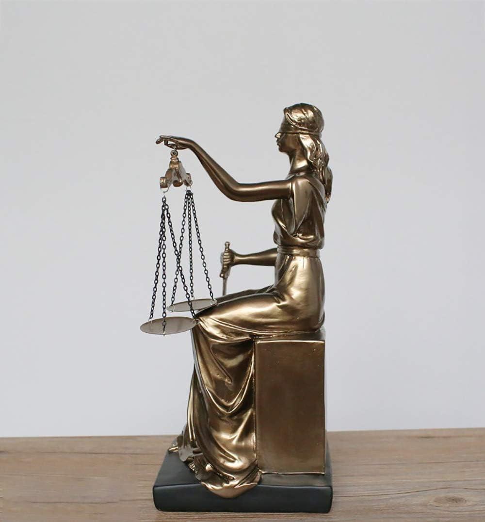 Diosa de la Justicia Estatuilla Themis Estatua Corte Decoraciones ...