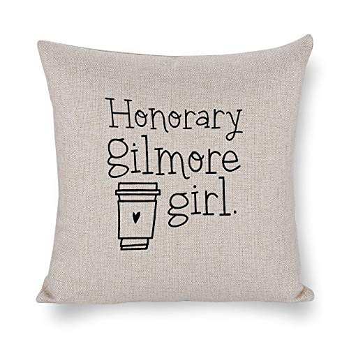 Mesllings Honorary Gilmore Girl 2PCS Best Gifts Decorative Throw Cotton Linen Pillowcase Cushion Cover Case for Sofa Living Room Family Office - 18 Inch -
