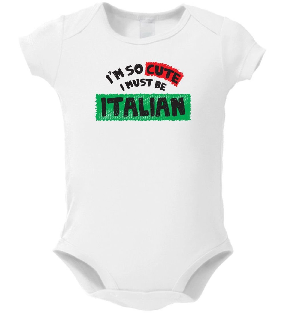 Dustin clothing series I'm So Cute I Must Be Italian Baby Boys Girls Toddlers Funny Romper 0-24M
