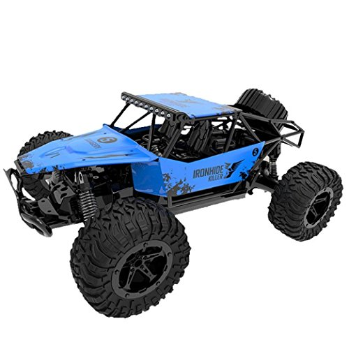 High Speed RC Racing Car,1:16 Scale Car, 2WD 2.4GHZ Radio Remote Control Off Road RC RTR Racing Car Truck Buggy Toys Vehicle Electric Cars Gift for Boys (Blue) ()