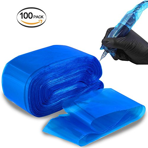 Tattoo Clip Cord Covers UNIQUE2U Heavy Duty Disposable Hygiene Safety Tattoo Clip Cord Sleeves Bags Covers For Tattoo Machine Gun Accessories,Tattoo Kits, Tattoo Supplies (100 Pcs)