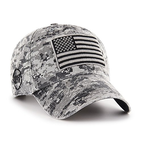 '47 Operation Hat Trick Mens Nilan Clean Up Adjustable Hatnilan Clean Up Adjustable Hat, Grey Digital Camo, One Size from '47