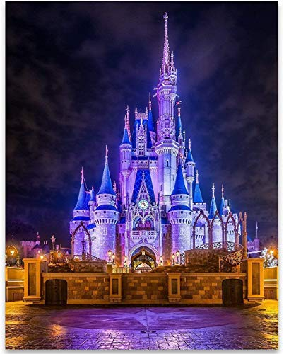 Cinderellas Castle - 11x14 Unframed Art Print - Great Home and Nursery Decor or Gift for Disney Fans