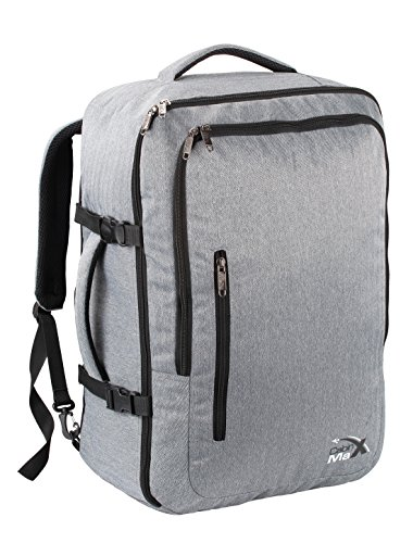 Cabin Max Malaga Travel backpack Flight Approved hand luggage cabin backpack (Grey)