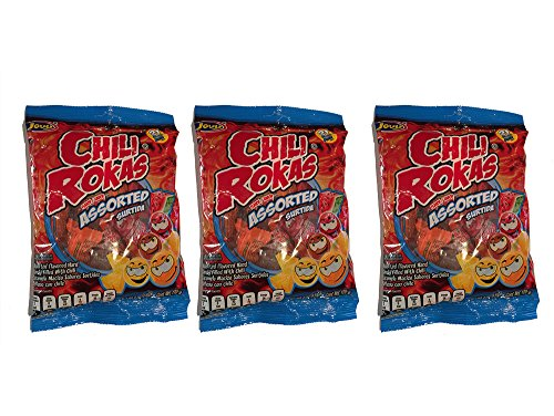 Mexican Candy Assorted Flavor, Pack of 3 Chili Rokas 6oz Bags