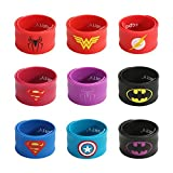Toys : Ecparty Superhero Slap Bracelet for Kids Boys & Girls Birthday Party Supplies Favors (9 pack)