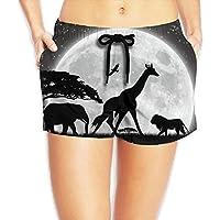 WHENLUCKY Hip Hop I Love April The Giraffe,CRAZY Giraffe Beach Shorts Summer Women Swim Shorts Swimsuit Trunks