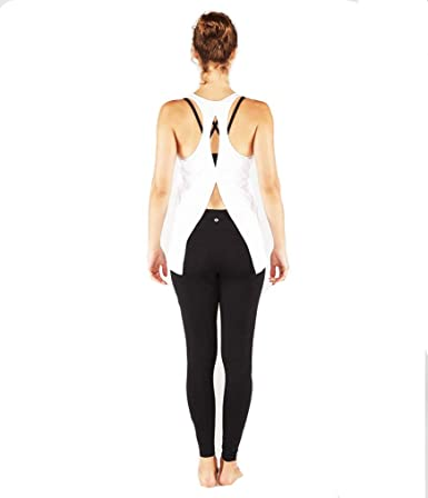 479a2c71f6697 Manduka Kosha Open Back Tank - White (Size S) at Amazon Women s Clothing  store