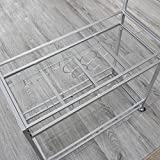 "FirsTime & Co. Delilah Silver Bar Cart, 32"" H x"