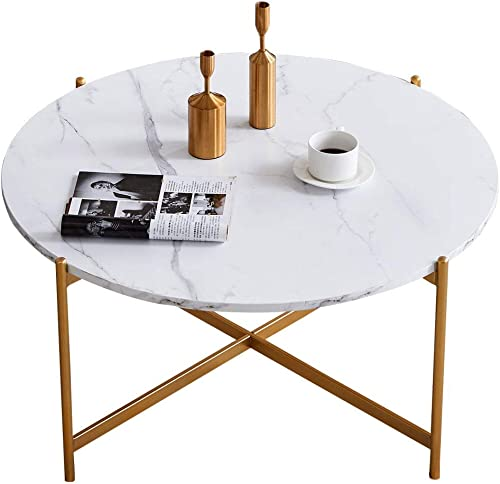 YKLWORLD 36 Modern Round Coffee Table