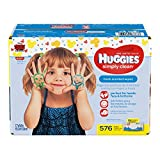 Health & Personal Care : HUGGIES Simply Clean Fresh Scented Baby Wipes Soft Pack, 576 Count