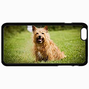 Personalized Protective Hardshell Back Hardcover For iPhone 6 Plus, Dog Design In Black Case Color