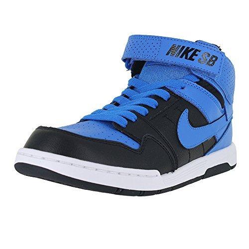 NIKE Boy's Mogan Mid 2 JR Shoe, photo blue/photo blue-black-white, 4 M US Big Kid (Awesome Shoes For Boys)