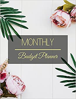 amazon com monthly budget planner simple floral design budget