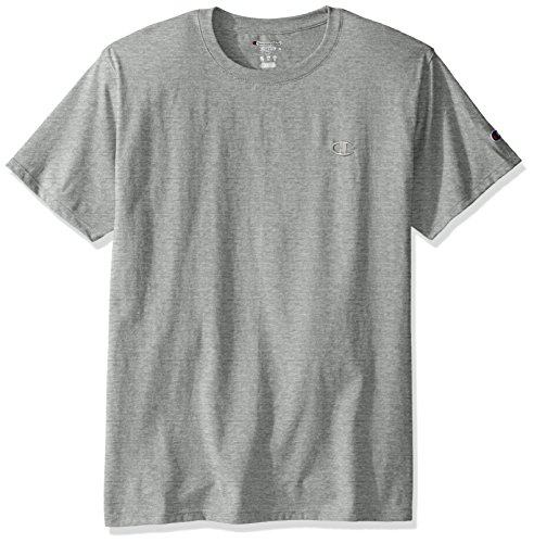 Gray T-shirt Tee - Champion Men's Classic Jersey T-Shirt, Oxford Gray, M