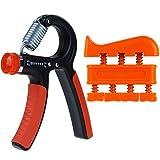 Rovtop Hand Power Grip Exerciser 10-40Kg Forearm Strength Training Adjustable Heavy, and 1 Finger Exerciser