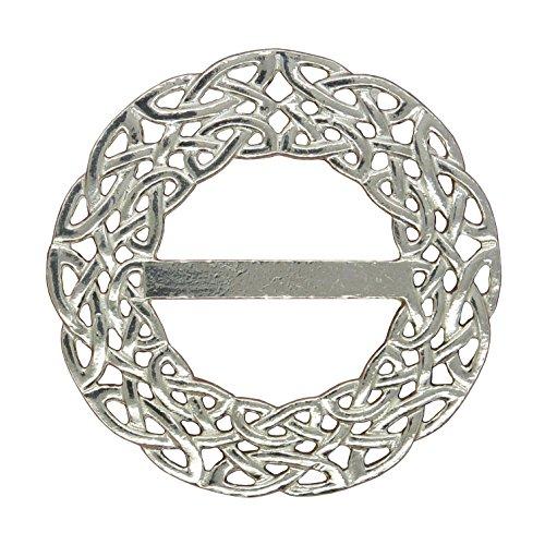 Celtic Scarf Ring, Deep Celtic Braid Scarf Ring, Handmade, in Fine Pewter, by William Sturt (Celtic Braid Ring)