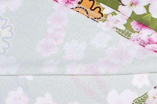 Teamyy Mujer V Cuello Alto Cintura De Manga Corta De Rayas Onduladas Casual Beach Party Vestido De Longitud Completa Multicolor