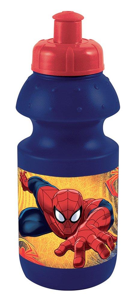 Fun House 005489 Spiderman Botella Deportiva para niñ o PP/PE Azul 6, 5 x 6, 5 x 17, 5 cm 5x 6 5x 17 5cm CIJEP