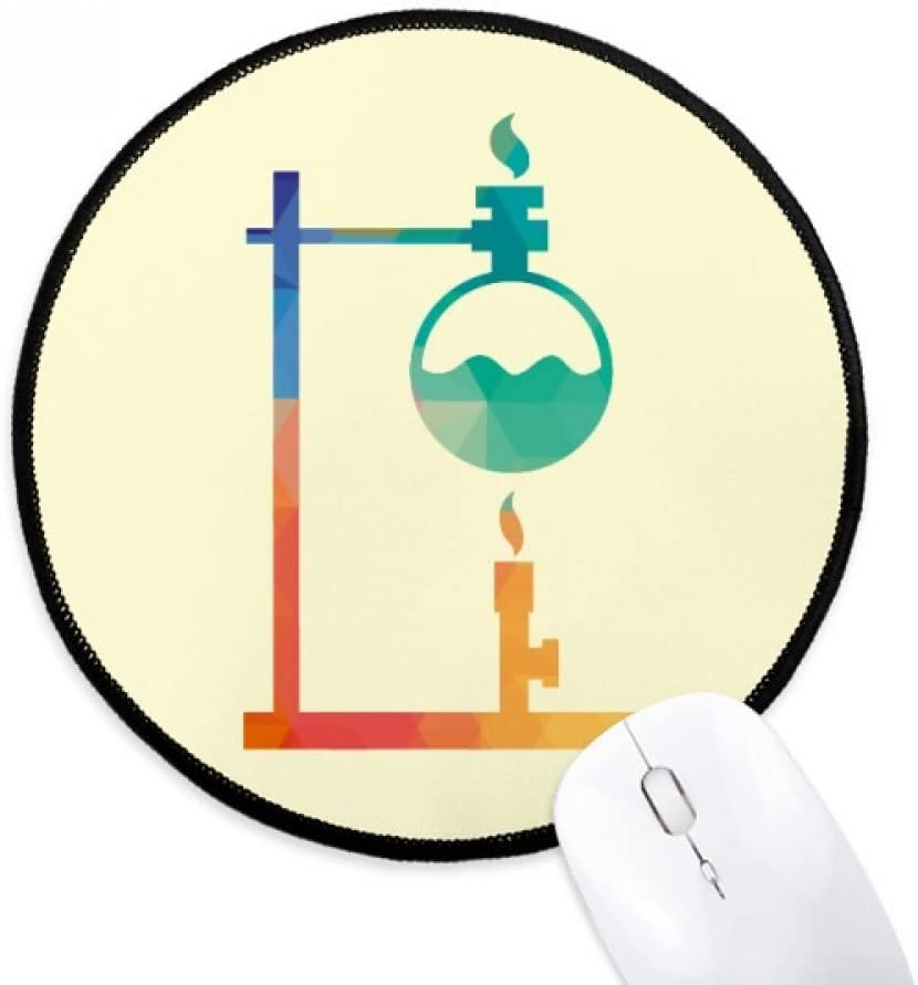 Heated Round Bottomed Flask Chemistry Mouse Pad Desktop Office Round Mat for Computer