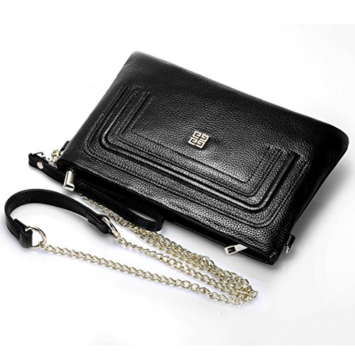 S ZONE Genuine Leather Womens Envelope Evening Clutch Bag Wallet
