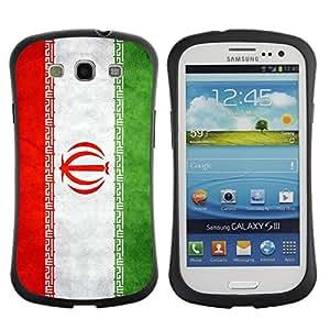 Fuerte Suave TPU GEL Caso Carcasa de Protección Funda para Samsung Galaxy S3 I9300 / Business Style National Flag Nation Country Iran