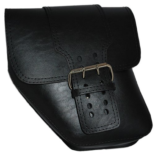La Rosa Harley-Davidson Dyna Wide Glide Big Strap Black Faux Left Saddle Bag